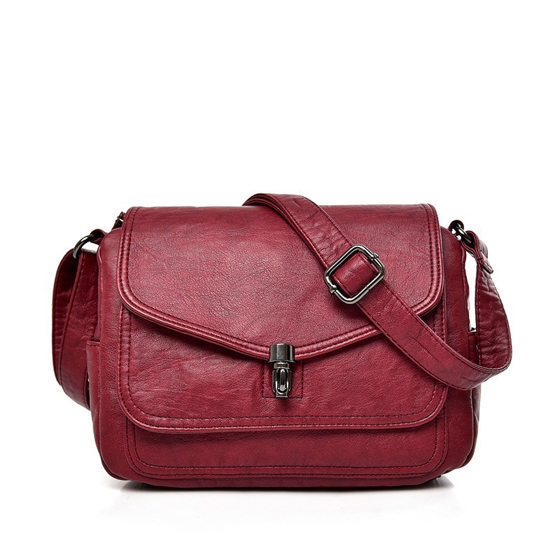 2019 Female Leather Messenger Bags Sac A Main Crossbody Bags For Women Vintage Shoulder Bag Bolsas Femininas Designer Handbags