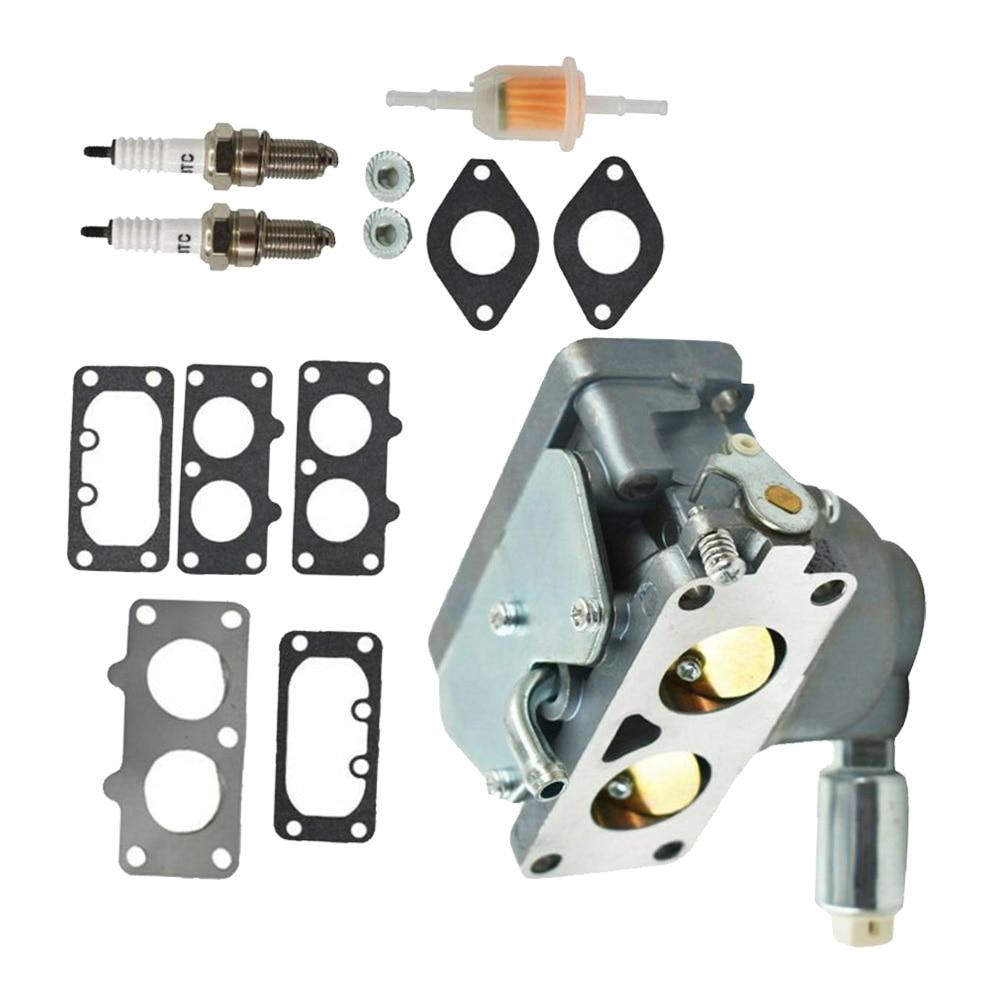 Fuel Filter Carburetor Kit For Briggs&Stratton 20HP 21HP 23HP 24HP 25HP Lawn Mower Engine Spark Plug