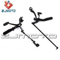 ZJMOTO Black Foot pegs Motorcycle Brake Shift Forward Control Kit For Harley Sportster 883 Iron (XL883N) 2009 2013
