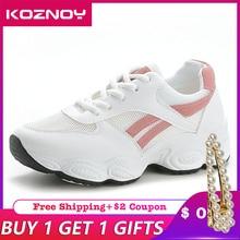 Koznoy Sneakers Women Spring Summer Korean Version Dropshipping Original Recreational Breathable Fashion Leisure Shoes