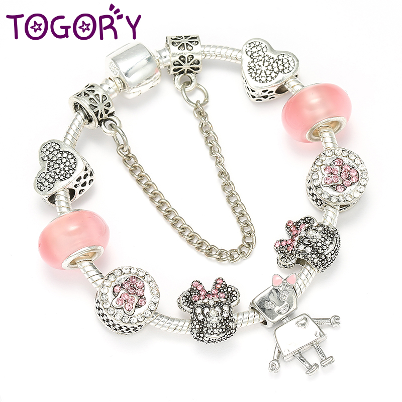 Good Spinner Bear Crystal Charm Beads Fit Pandora Charm Bracelet For Women Diy Jewelry Accessories Gift Online Discount Jewelry & Accessories