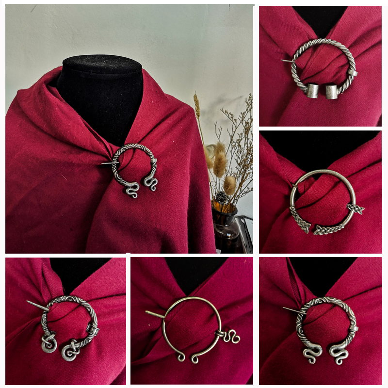 Cloak clasp new buckle silver coloured