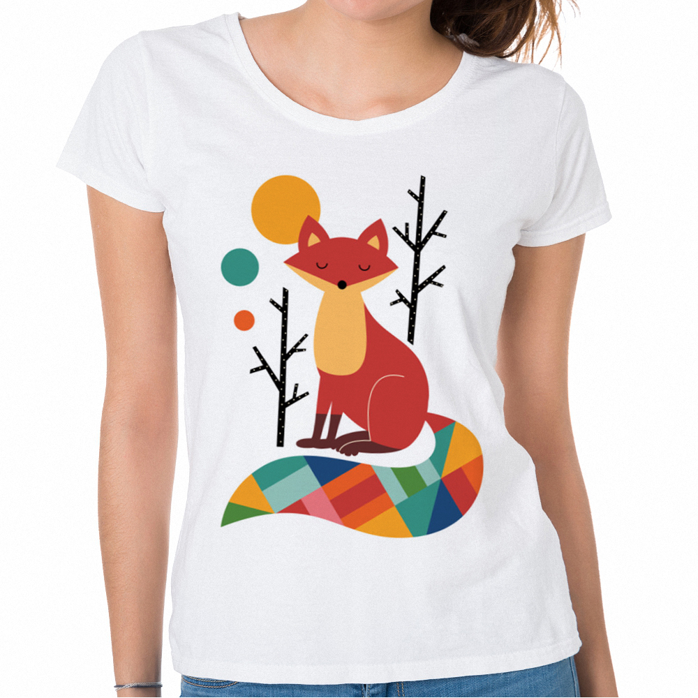 41f0ec602d1 New Arrivals Korean T Shirts Women Fox Graphic Tee Shirt Ladies Harajuku  Womens Summer T-
