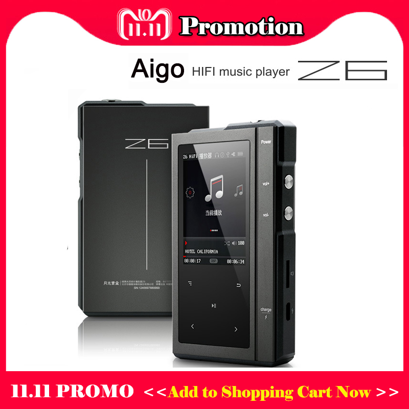 цена Moonlight AIGO Z6 Hi fi Mp3 Player Hi-res Lossless Music Player DSD DAC Hifi Player Touch Screen Portable Flac Player Mp3
