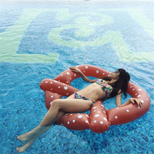 150*140*15cm Inflatable Air Mattress Water Boat Pool Float Swimming Summer Beach Bed Toy Adult Kids Float Buoy Kickboard Donut hewolf new summer beach swimming pool float mattress inflatable pineapple lounge seat raft floating bed air mat water game toy