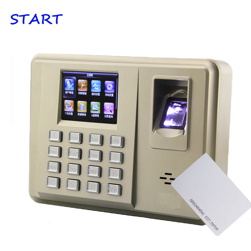 TX638 Biometric 3000 Fingerprint Capacity Fingerprint ID Card Time Attendance System With Linux System