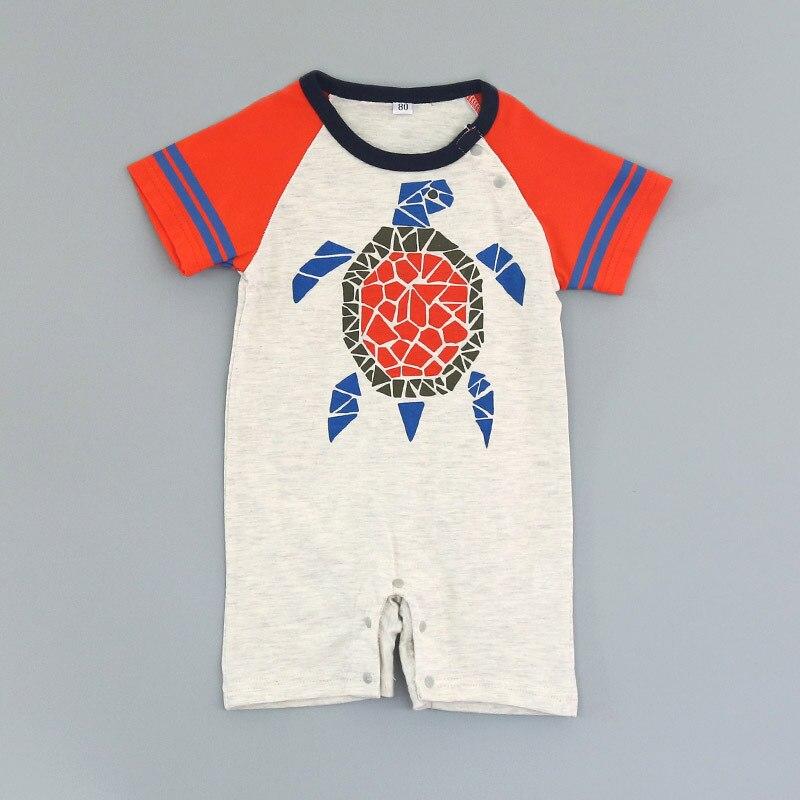Ins горячий стиль g dabie-Сулу Осьминог га одежды с коротким рукавом новорожденных черепахи влезла 13316 летние ползунки детские