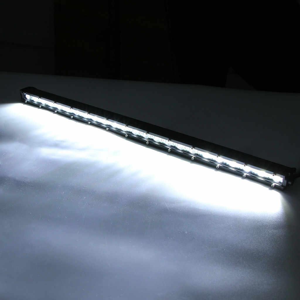 単列 20 インチ 24LEDオフロード車超薄型スポットライト屋根ランプストリップライト (濃度 + 投光器) 54 ワット 19Mar27