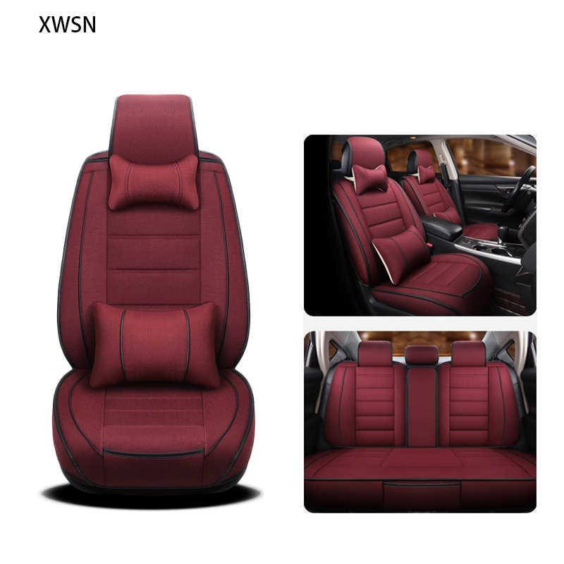 Housse de siège de voiture en lin pour mercedes w203 w124 w202 mercedes w211w212 w245 cla gla s600 accessoires de voiture