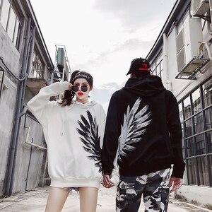 Image 2 - New 2018 Street wear Hoodies print Sweatshirt Mens Casual Brand Clothing Phoenix wings hip hop hoodies  tops Sweatshirts