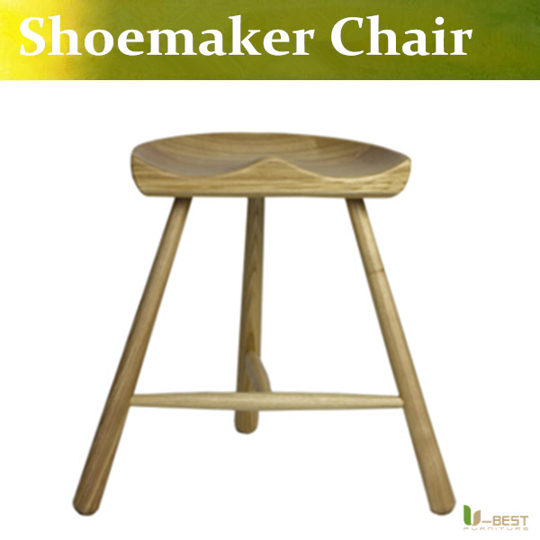 Free shipping U-BEST Nordic wood chairs legged chair bar stool chair cobbler solid wooden bench Shoemaker barstools 17 styles shoe stool solid wood fabric creative children small chair sofa round stool small wooden bench 30 30 27cm 32 32 27cm