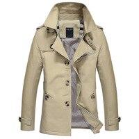 2019 Mens OverCoat Slim Fit Brand Clothing Windbreaker Male Business Trench Coat Mens Jacket 5XL Autumn Long Coat