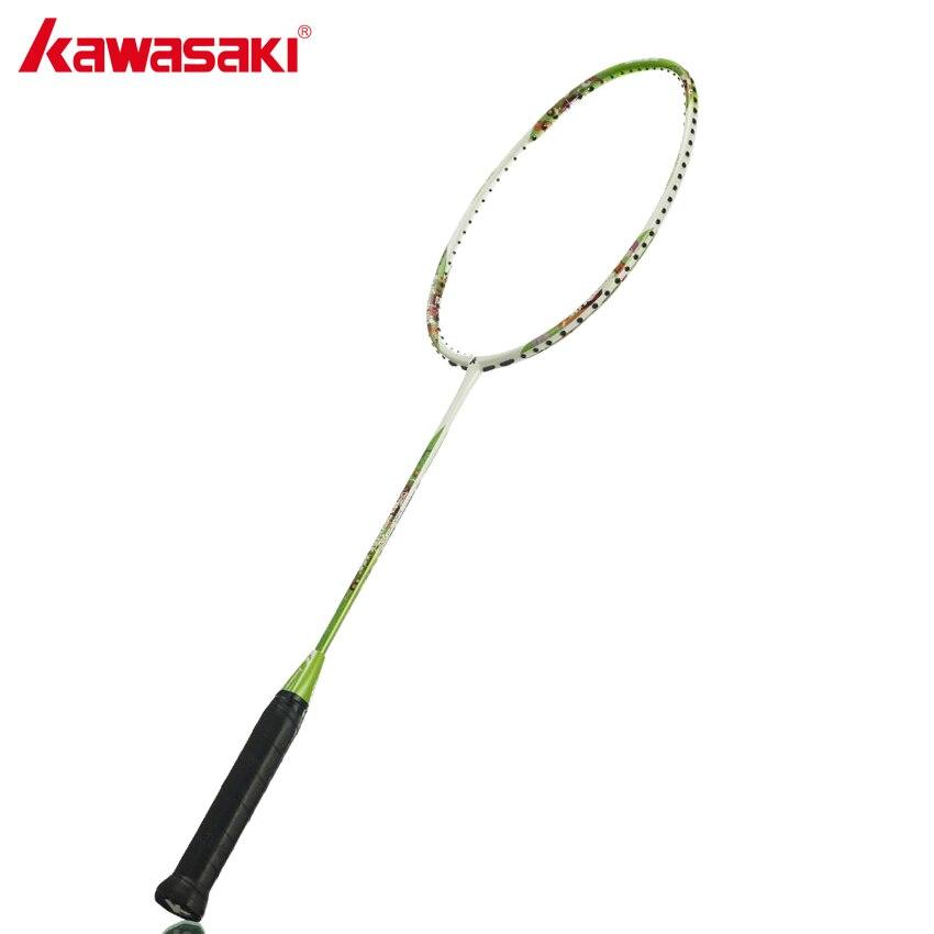 KAWASAKI raquettes de Badminton professionnelles en carbone pour enfants raquette de Badminton 5U pour enfants de 8 à 13 ans enfants heureux 650