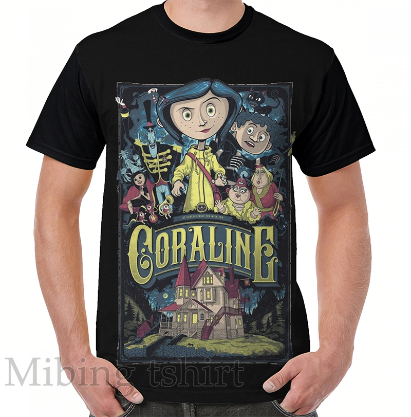 Funny Print Men T Shirt Women Tops Tee Coraline Graphic T Shirt O Neck Short Sleeve Casual Tshirts Buy At The Price Of 9 10 In Aliexpress Com Imall Com