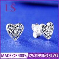 LS 925 Silver Hearts of Winter Stud Earrings.Earrings For Women Statement Fringe Earrings Geometric Jewelry.Women Jewelry Bijoux