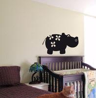 KIDS WALL ART STICKER BABY ROOM NURSERY BOY GIRL BEDROOM KIDS FUNNY HIPPO