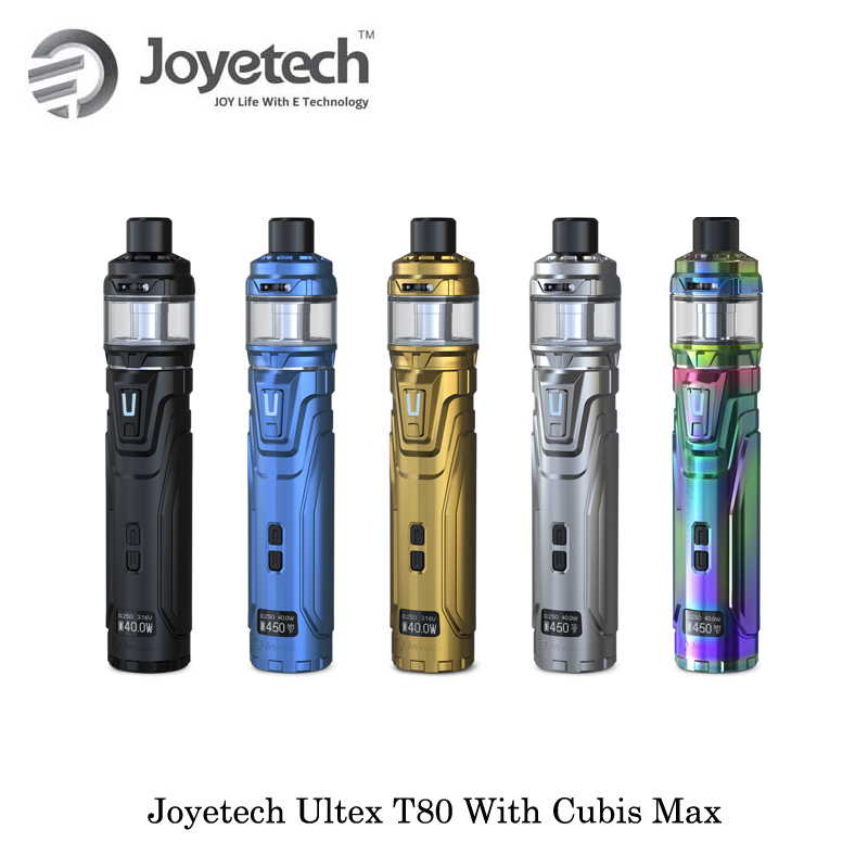 electronic cigarette Joyetech ULTEX T80 CUBIS Max Starter Kit NCFilm Heater Replaceable Cotton Powered By Single