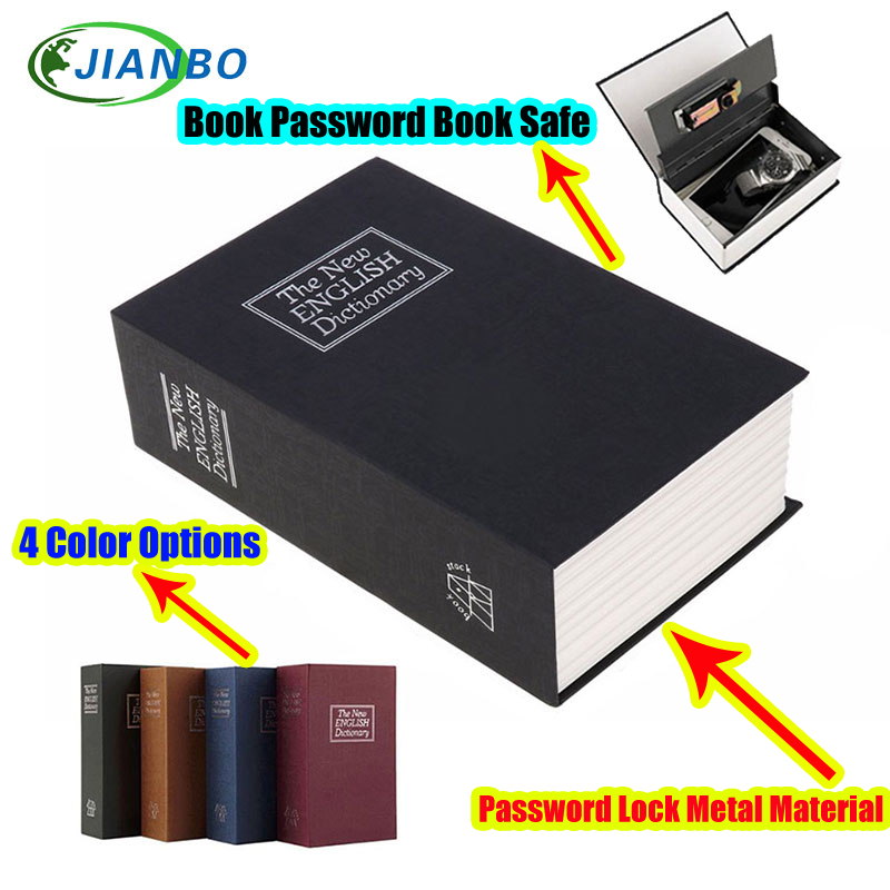 Safe Box Piggy Bank Secret Book For Coin Money Stash Security Hidden Safes Cash Money Storage Jewellery Digital Password Locker(China)