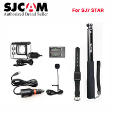 SJCAM SJ7 star accessory kit Car charger+Microphone+Remote control Monopod+Motorcycle waterproof case+dual charger for SJ7 cam
