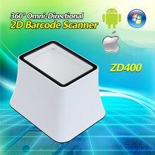 Omnidirectional 2D Desktop DataMatrix QR Code Reader 2D Barcode Scanner Android Mobile Payment USB Wired 2D Scanner Code Reader