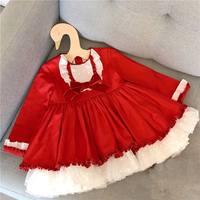 5985a8f52bb0 3288 Spanish Christmas Party Toddler Princess Baby Girl Dresses Autumn  Winter Kids Dresses For Girls Wholesale baby girl clothes