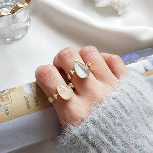 Image 5 - 925 Sterling Zilver Natuurlijke Edelsteen Gold Teardrop Roze Rozenkwarts Halfedelsteen Ringen Amerikaanse Maat 8 #