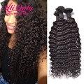 Deep Wave Brazilian Hair 3 Bundles Brazilian Deep Curly Virgin Hair Grade 8a Unprocessed Deep Curly Weave Human Hair Bundles