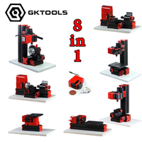 8 In 1 Mini Lathe Machine Mini Combined Machine Tool For Soft Metal Or Wood Processing