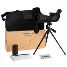 Discount! Waterproof Angled 20-60×60 Zoom Spotting Scopes Monocular with Tripod Telescope Camera Lens With Phone Adaper