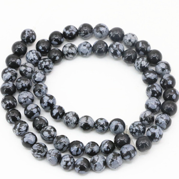 Bracelet Obsidienne Flocon De Neige
