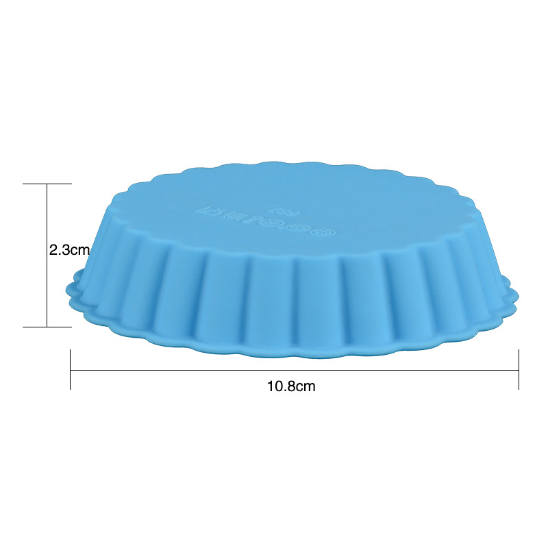 1PC Eco-friendly Silicone Bakeware in Round Shape Available in Random Colors for Baking Cup Cakes in Microwave Oven 4