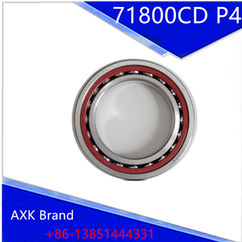 1pcs 71800 71800CD P4 7800 10X19X5 AXK Thin-walled Miniature Angular Contact Bearings Speed Spindle Bearings CNC ABEC-7 1pcs 71932 71932cd p4 7932 160x220x28 mochu thin walled miniature angular contact bearings speed spindle bearings cnc abec 7