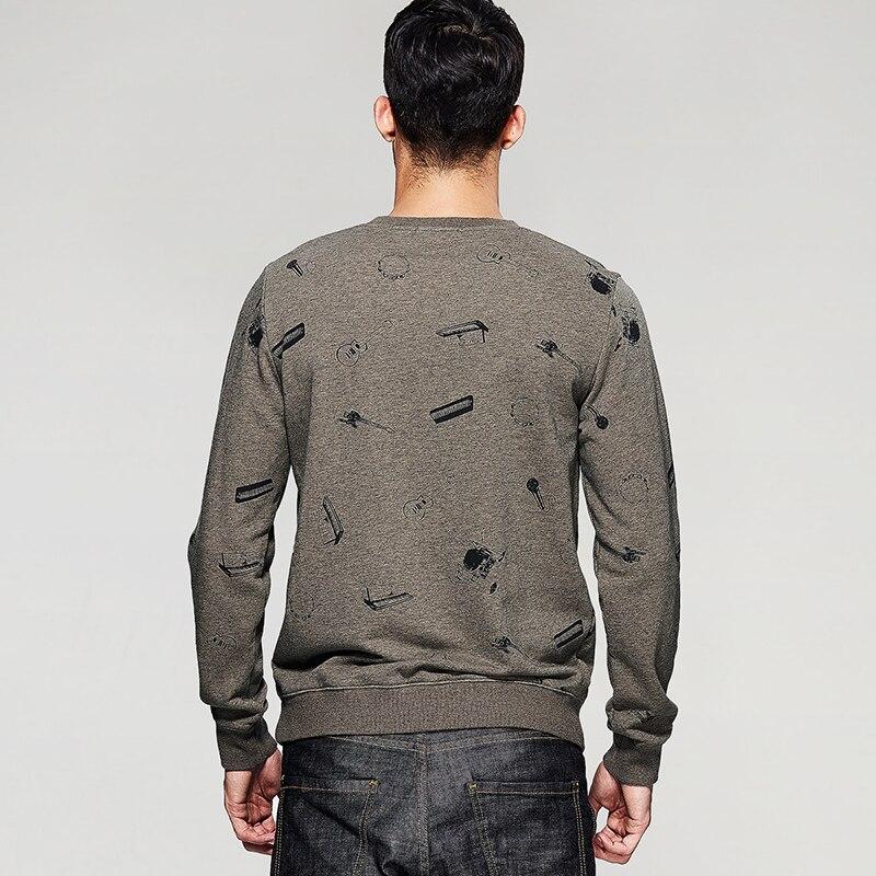 Vêtements Marque Mince Mode 6035 Survêtement Pulls Automne De Molletonnés Hommes Tops Mâle D'impression L'appareil Homme Pull Kaki vqaOP