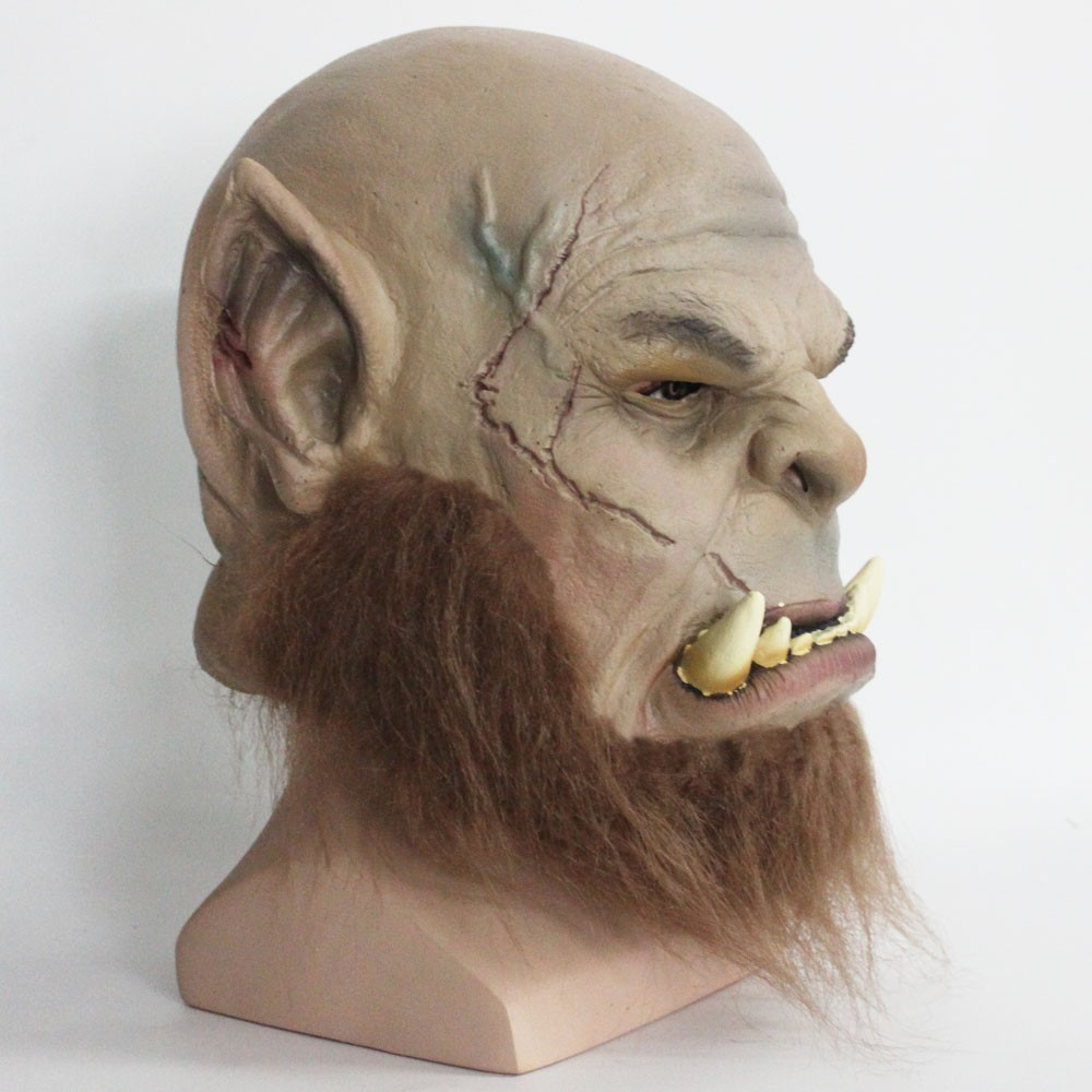 2016 Movie World of Warcraft Mask Ogrim Doomhammer Latex Mask Party Halloween Mask4