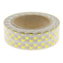 Golden Heart Foil Washi Tape Scrapbooking Tools Cute Decorative Cinta Adhesiva Decorativa Japanese Stationery Washi Tapes Mask
