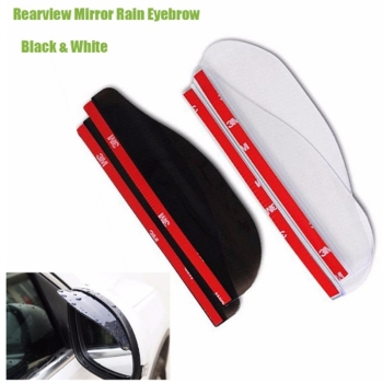 Universal Door Side Rear View Wing Mirror Rain Visor Board Snow Guard Weather Shield Sun Shade Cover Rearview Auto Accessories image