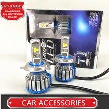 H4 фар автомобиля высокой Мощность Авто H4-3 Hi/lo HB2 9003 высокая низкая 40 Вт X2 белый 6000 К лампа Repalcement би ксеноновые фары