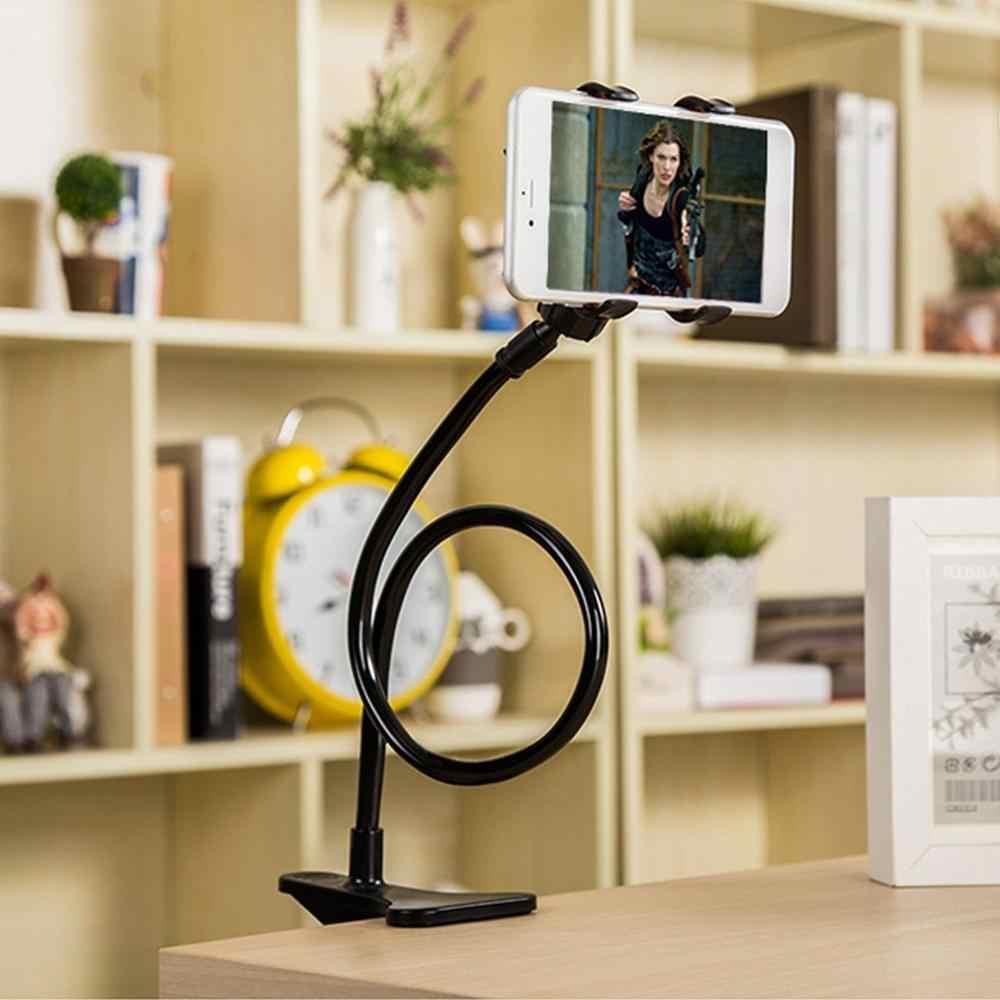 ใหม่ 360 หมุนมีความยืดหยุ่นยาวที่วางโทรศัพท์มือถือStand Lazy Bedเดสก์ท็อปแท็บเล็ตรถselfie Mount BracketสำหรับiPhone 6
