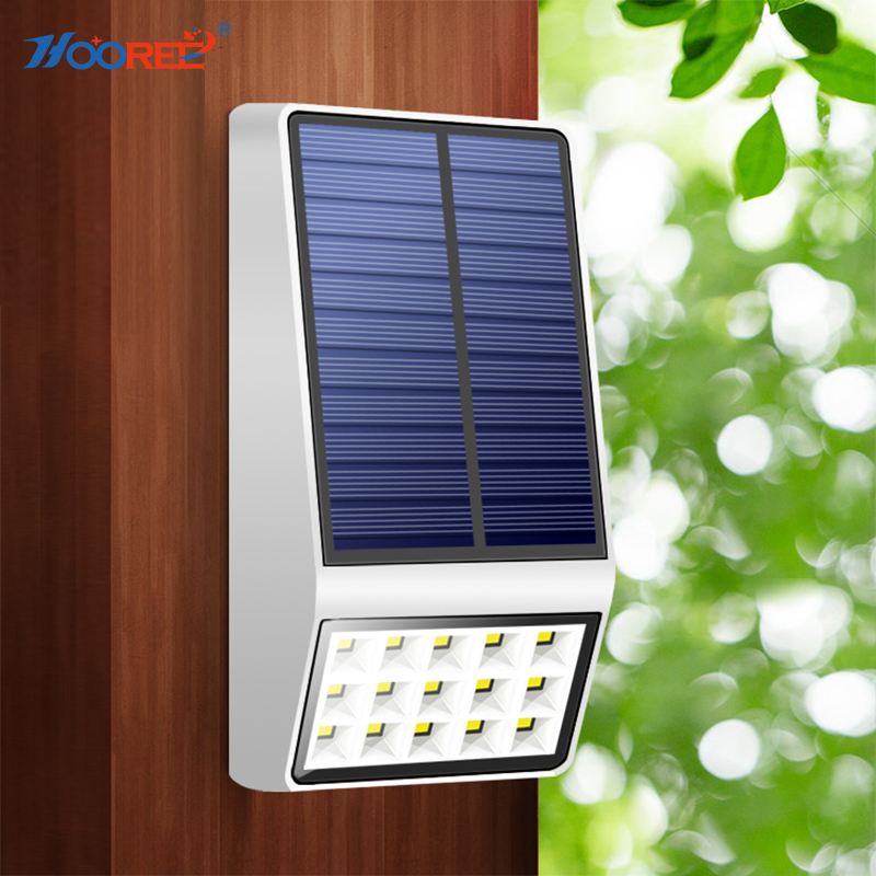 HOOREE Solar Lamp outdoor Lighting Solar Power Solar Led Sunlight Waterproof IP65 Wall Solar Garden Yard Light Motion Sensor цены