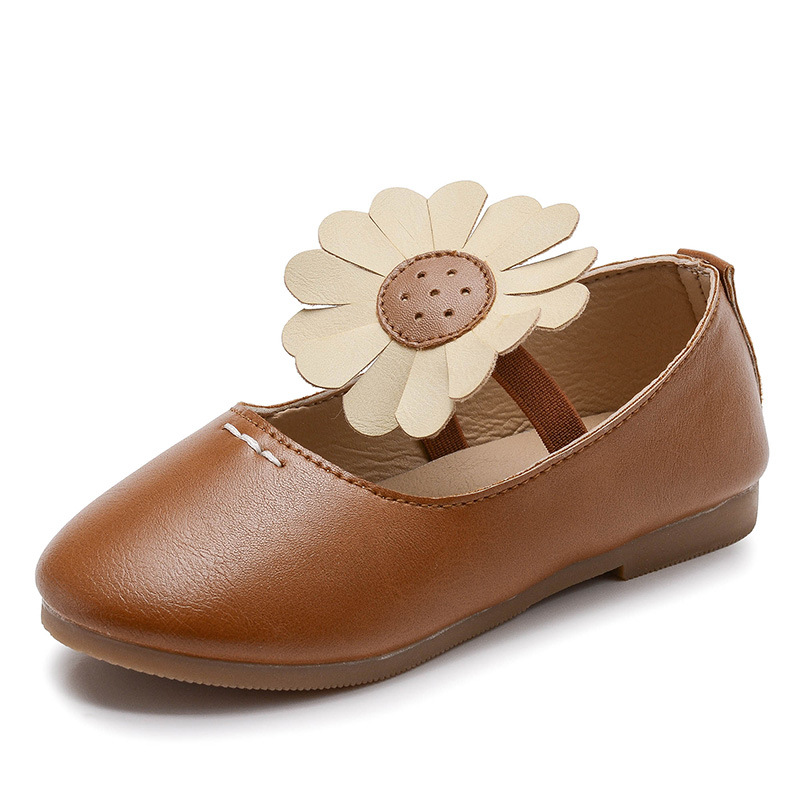 Summer autumn New Flowers girls School Uniform single shoes leather Sneakers Fashion Breathable Sandals Flat Kids Casual Shoes