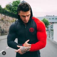 Hot Sale Bodybuilding Hoodies Men Animal Gyms Sweatshirts Long Sleeve Cotton Sportwear Fitness Pullover Muscle Tops