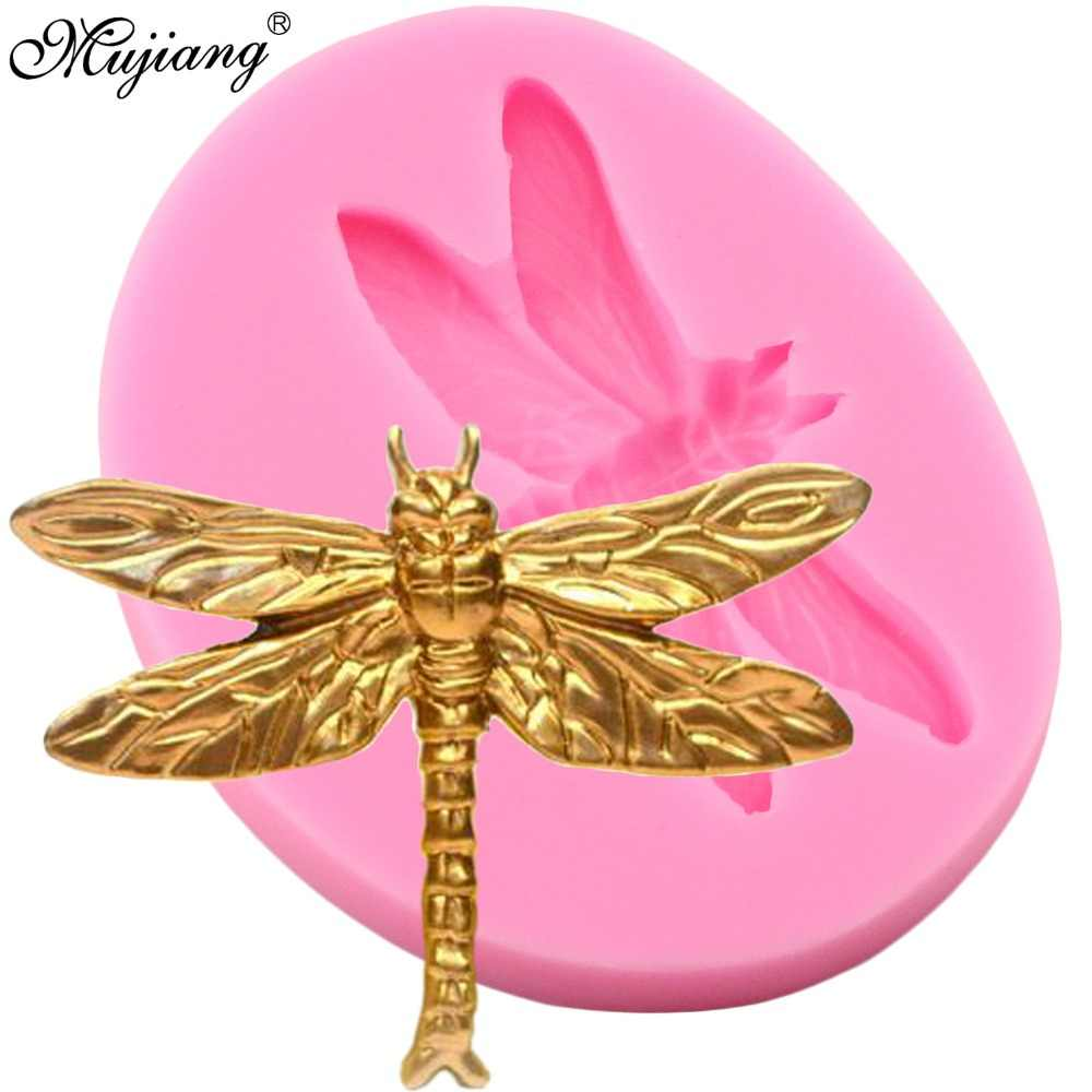 Dragonfly Silicone Mold Cake Fondant Molds DIY Suagrcraft Insect Cake Decorating Tools Candy Fimo Clay Chocolate Gumpaste Mould