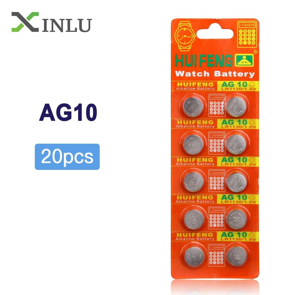 WAMA AG10 Alkaline Button Cell Battery 1.5V 10 Batteries - LR1130 389