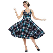 Sisjuly vintage dress 1950s spring strapless pin up playful cute dress 2017 summer plaid patchwork elegant party vintage dresses