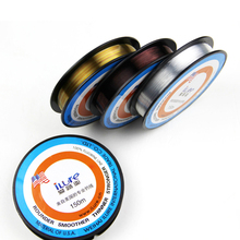 Promotion! 150M 3colors 100% Japanese Fluorocarbon Fishing Line Monofilament Carp Wire Leader Lines Tresse Peche Fly Line