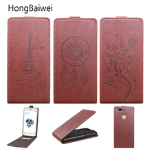 hot deal buy hongbaiwei for xiaomi mi 5x flip case fashion embossed leather cover case for xiaomi mi a1 flip cover case for xiaomi a1 / mia1