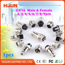 1pcs GX16 2/3/4/5/6/7/8/9 Pin High Quality Male& Female 16mm Wire Cable Panel Connector Aviation Plug Circular Socket Plug
