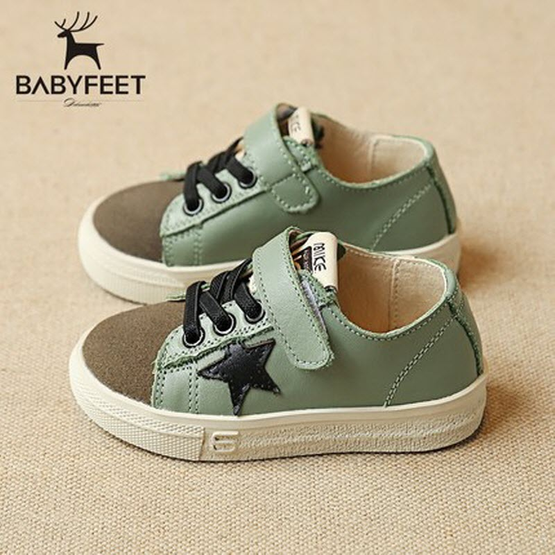 2017 Fashion Babyfeet children sneakers 1-3 year old baby Unisex boy baby girl infant kids Leather Shoes Star Flat Toddler shoes new babyfeet toddler infant first walkers baby boy girl shoe soft sole sneaker newborn prewalker shoes summer genuine leather