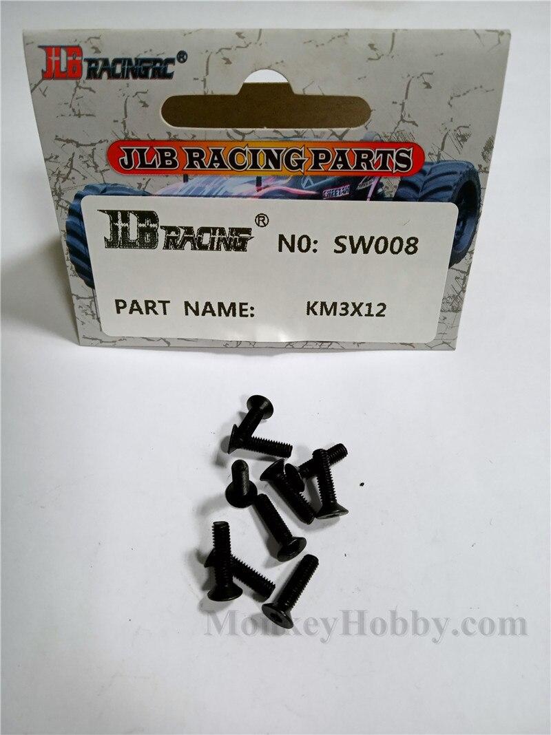 10PCS JLB SW005 PM3X8mm Screw CHEETAH 11101 21101 1//10 RC Car Parts