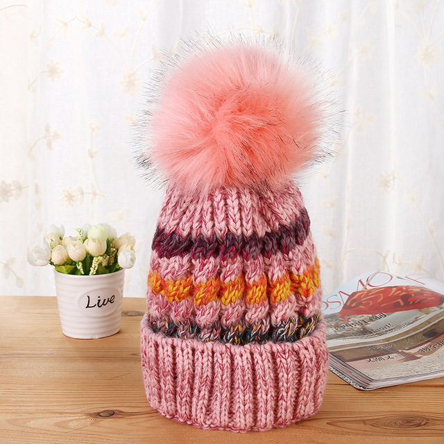 Fashion Casual New Warm Winter Beanies Women Knitted Hats Colors Skullies Beanies Knit  Caps Female Beanie Outdoor Party Sports